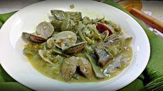 Aprende a cocinar alcachofas con almejas. Una receta saludable pero que está deliciosa y es muy sencilla. Consulta todas las recetas sanas de Platos de Cine