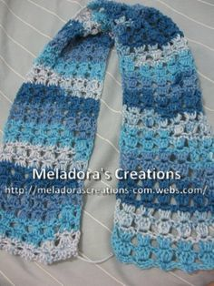 BUFANDAS - Creaciones gratuito Crochet Patterns & Tutoriales de Meladora
