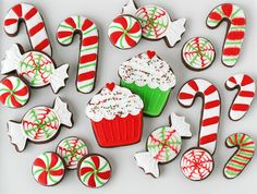 Make your Christmas cookies look like peppermint candies using this recipe.
