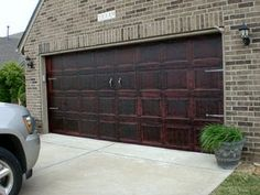 Just Faux Fun: Garage Door Makeover    This looks amazing!!!    ~therhok  real housewives of OK