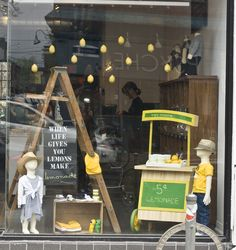 lemonade window display