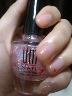 UNT-RU085  The new member of my nail lacquers! Look those shining paillettes!