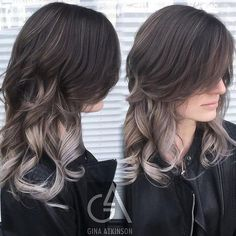 silver ombre for brunettes