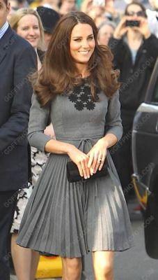Kate Middleton wearing Orla Kiely today.