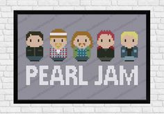 Pearl Jam cross stitch pattern by Cloudsfactory