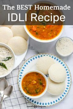 Savory steamed rice and lentils cakes that can be enjoyed with coconut chutney and sambar. #ministryofcurry #indianfood Veggie Recipes Healthy, Vegetarian Recipes Videos, Curry Recipes, Easy Chicken Recipes, Indian Food Recipes, Idli Recipe, Biryani Recipe, Instant Pot Dinner Recipes, Delicious Dinner Recipes