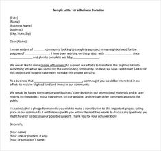 29+ Donation Letter Templates - PDF, DOC | Free & Premium Templates Donation Letter Example, Donation Letter Template, Printable Letter Templates, Business Letter Template, Writing Template, Fundraising Letter, Appreciation Letter, Signs Youre In Love, Business Writing