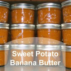 Perfect on fresh baked bread or warm biscuits! It's like Fall in a jar <3 ::: Sweet Potato Banana Butter ::: Ever Growing Farm