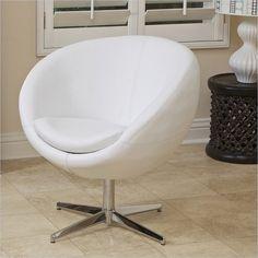 Trent Home Daniel Modern Egg Chair in White - 896112CY