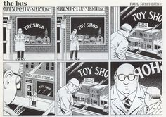 We live in a world ruled by fictions of every kind - but does it float. Paul Kirchner's amazing series about waiting for the bus.