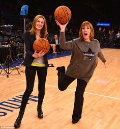 downton abbey comes to america....lady edith and mrs hughes try basketball!! <3