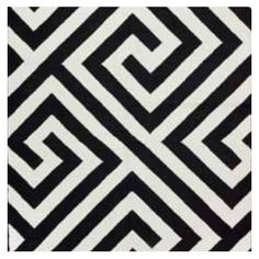 Liz Caan Interiors Black Greek Key Rug