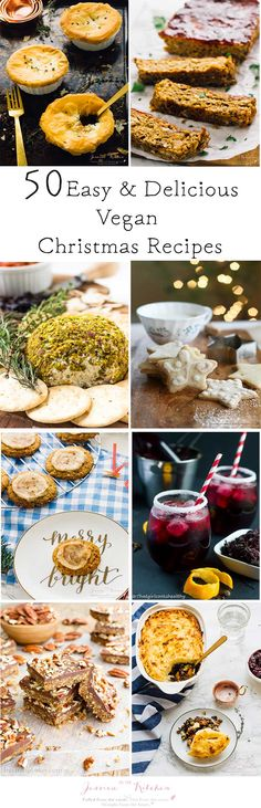 50 Delicious Vegan Christmas Recipes That You NEED To Try Now! Everything you'll need from breakfast to dinner to desserts. Enjoy! via jessicainthekitchen.com
