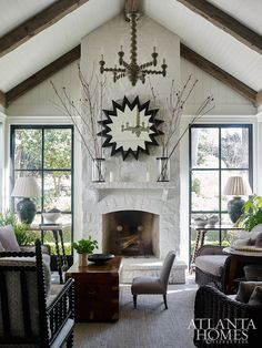 I love the work of architect, William B. Litchfield , so I was thrilled to see this home he recently helped to renovate along with in...