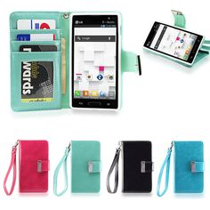 IZENGATE Wallet Flip Case PU Leather Cover Folio for LG Optimus L9 P769 T-Mobile