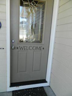 Welcome Vinyl Lettering Decal by Layniebugs on Etsy, $5.99