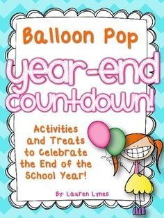 The end of the year can be a crazy time! Make it fun and memorable for you kids {and help keep your sanity!} by doing this fun balloon pop countdown! Each day, pop a balloon to reveal a fun activity or treat for your students! Most activities/treats are free or very cheap!