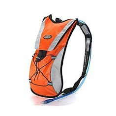 Hydration Pack Water Rucksack Backpack Cycling Bicycle Bike Outdoor Sport Bladder  2L TPU Camping Hiking Bag orange * Want to know more, click on the image.Note:It is affiliate link to Amazon.
