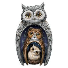 Eyes Of Wisdom Owls Figurine Set | PINNED BY Jenny Suchin - JENNY SUCHIN, www.jennysuchin.com