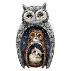 Eyes Of Wisdom Owls Figurine Set | PINNED BY @weememories - JENNY SUCHIN, www.jennysuchin.com