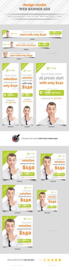 Design Studio Web Banners Templates PSD #ads #design Download: http://graphicriver.net/item/design-studio-web-banner-ad/13607736?ref=ksioks