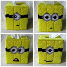 Despicable Me Minions Plastic Canvas Tissue Box Cover - Thumbnail 4.  I need to buy some minion yellow Now