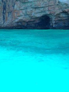 """""""Blue Lagoon"""" near to Agia Kyriaki beach,  Kefalonia , Greece . Photo by Thalia.P."""