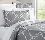 Trisha Duvet, Full/Queen, Gray