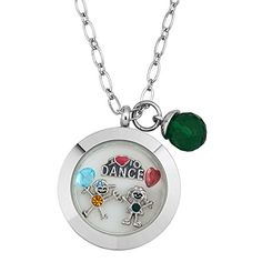 I Love To Dance Floating Locket Flower Charms Birthstone Crystal Memory Living Locket Magnetic Bracelet >>> Click image to review more details.