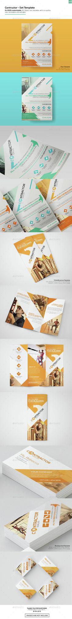 Contractor - Set Templates - Informational #Brochures   Download http://graphicriver.net/item/contractor-set-templates/15314033?ref=sinzo