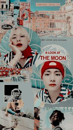 Bts Taehyung, Jimin, Aesthetic Collage, About Bts, Rap Monster, My King, Taekook, Bts Wallpaper, Bts Memes