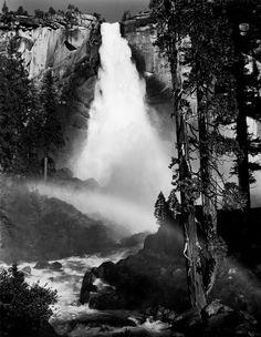 Ansel Adams: Nevada Fall, Yosemite National Park, California, c.1950