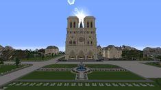 Cathédrale Notre-Dame de Paris  #minecraft #cathédrale #Notre-Dame  #Paris Minecraft, Castle, Building, Travel, Viajes, Buildings, Castles, Destinations, Traveling