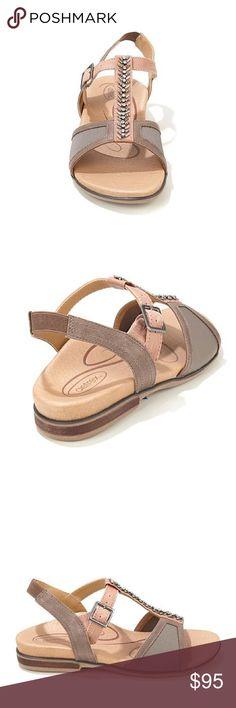 0d1657bb07e6ba Aetrex Leanna Sandal- 8.5 Aetrex Leanna rhinestone sandal with adjustable  strap. New in the
