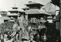 Tribhuvan Bir Bikram Shah. 1937 with Juddha Shumsher on first elephant