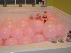 Elf on the Shelf taking a different kind of bubble bath: