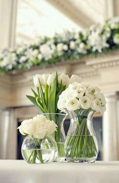 baby shower floral ideas, all white