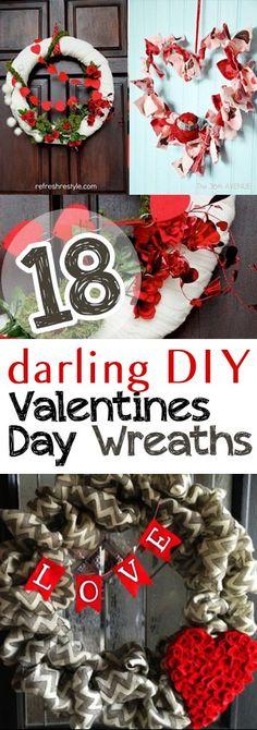 Valentines Day Wreaths, DIY Wreaths, Valentines Day Porch Decor, Porch and Patio Decor, Porch and Patio Ideas, Valentines Day Wreath Ideas, DIY Valentines Day, How to Decorate Your Porch for Valentines Day