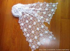 Crochê Tricô - Gráficos: Cachecol Floral Rendando