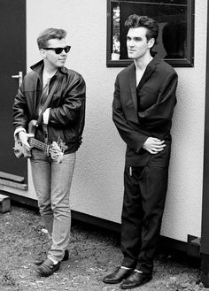 Andy Rourke and Morrissey, somewhere at some time.