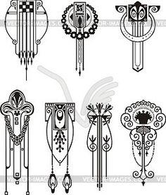 Muster im Jugendstil - Vector-Design