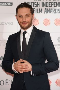 Tom Hardy At BIFA 2013 - I love that slightly cheeky look on his face. :)