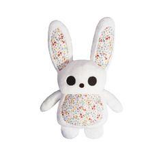 Peluche lapin blanc fait main Création artisanale