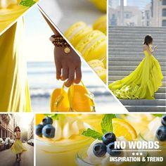 Different inspiration (yellow, lemon, fashion, dress, macaron) chosen from our #digitalteam