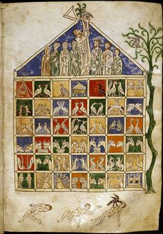 A beautiful Medieval manuscript depicting the story of Noah.