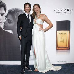 @Halle McClintock and @anabbofficial stunning at the AZZARO pour Homme fragrance presentation in Sao Paolo, Brazil - - #AzzaroPourHomme #Azzaro #modernseduction #elegance #IanSomerhalder #perfume #fragrance #couple #look #anabbofficial #Padgram