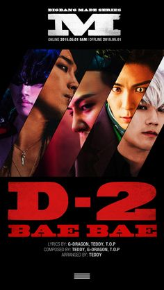 """BIGBANG Transforms into Mutants for 2nd Title Track """"Bae Bae"""" Poster"""
