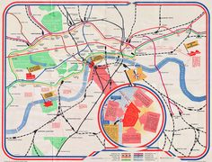 1951 Festival of Britain tube map