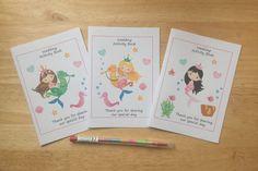 A6 MERMAID Design Children's Girls Wedding by DesignsbyDaisyandMax
