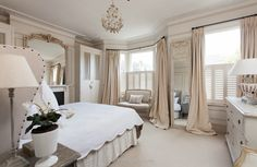 Calming and elegant master bedroom